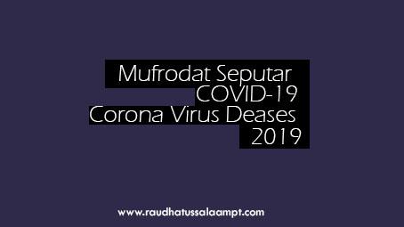 Mufrodat/ Kosa kata penting terkait Corona Virus